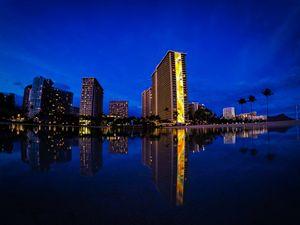 Rainbow Tower Reflection