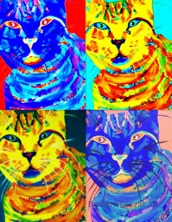 Colorful Cat - barbara leavitt