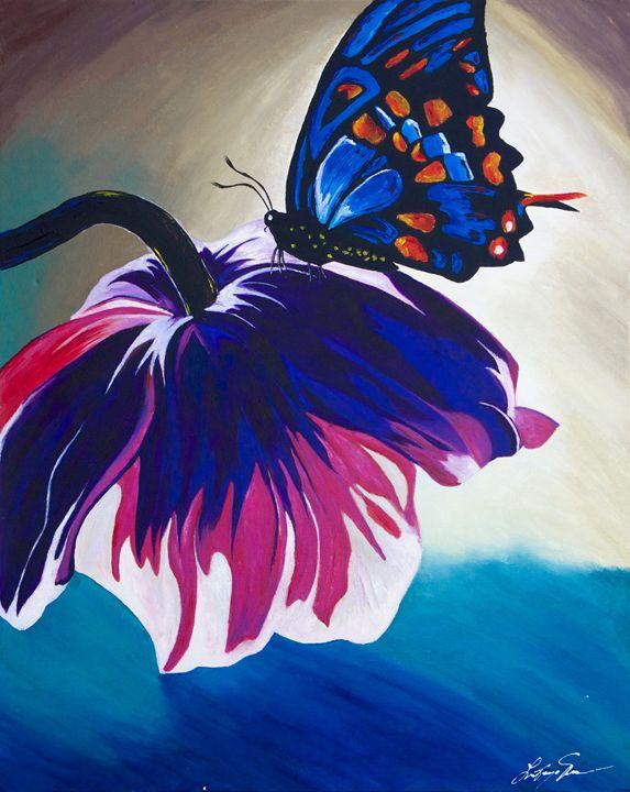 Butterfly Landing - LaToya's creative art