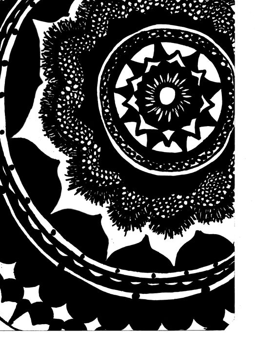 Mandala in Black and White - Adam Brome Cowger