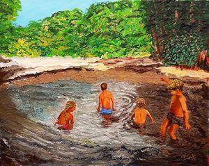 Those children bathing