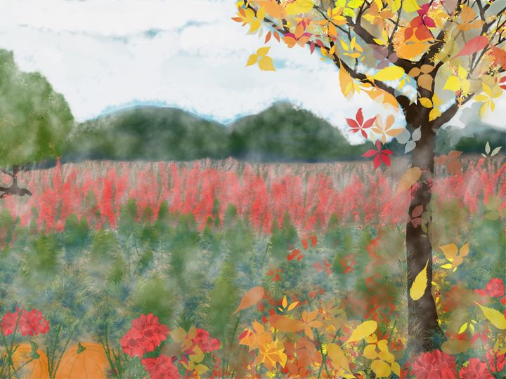 Cloudy Autumn Day In The Foothills - VickiLloyd