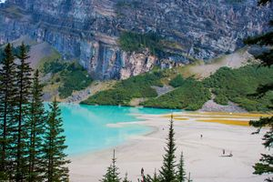 The bluest side of Lake Louise