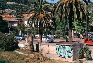 View of Ventimiglia, Italy