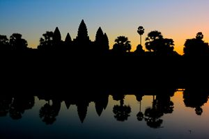 Angkor Vat at the sunrise