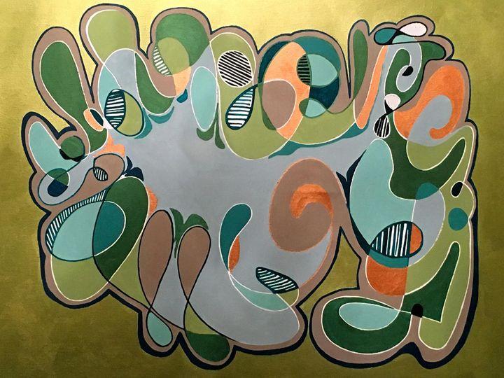 Retro Fifties pattern green - Melnevsky