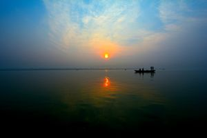 Gange River at the sunrise