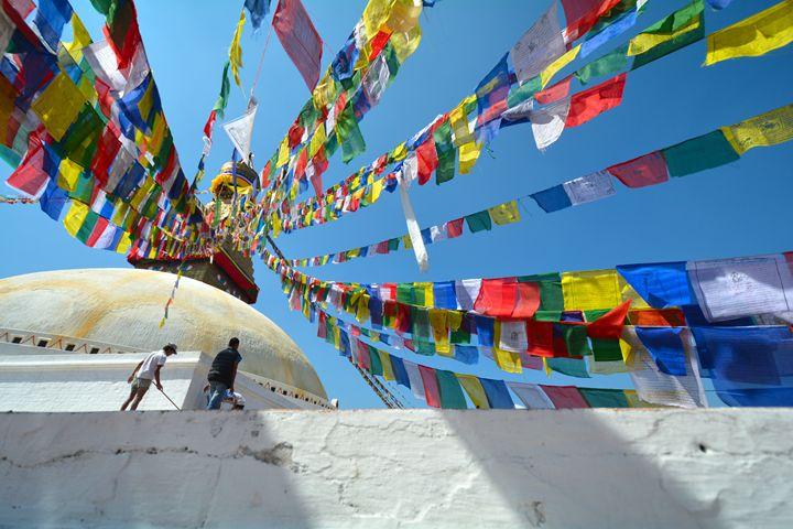 Pray Flags in Kathmandu - Melnevsky