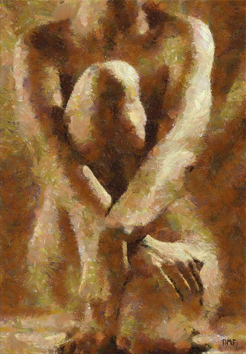 Sitting nude - FORTUNA ART
