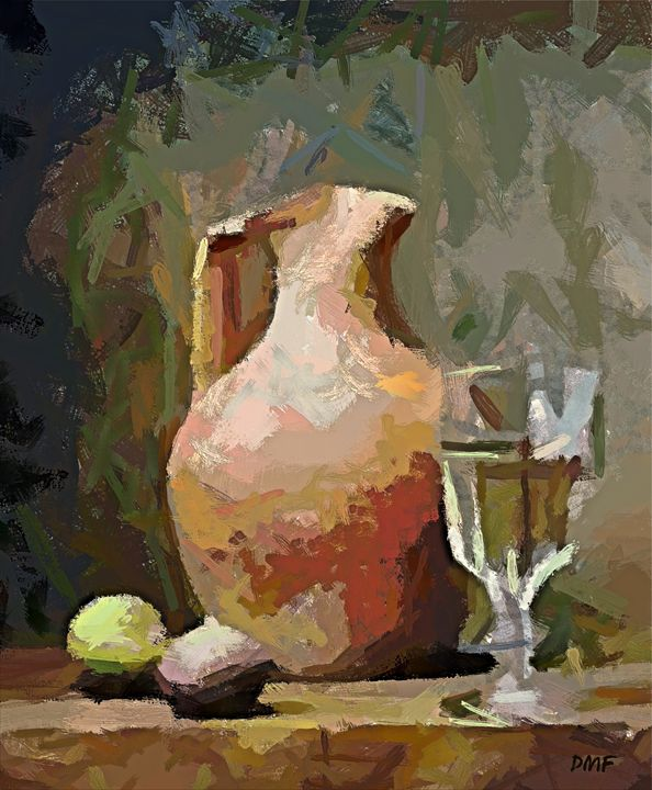 The mayolka and the glass of wine - FORTUNA ART