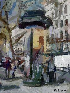 Morris column in Paris - FORTUNA ART