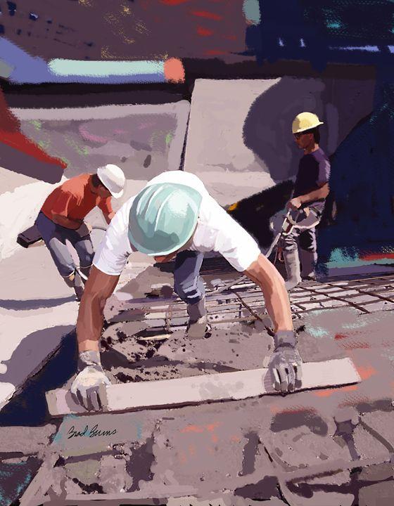 Cement and Rebar - Construction Fine Art