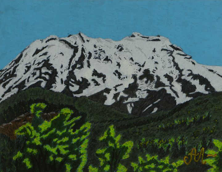 Mount Ruapehu, New Zealand - Anton's art from the heart