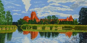 Medieval castle in Trakai, Lithuania - Anton's art from the heart