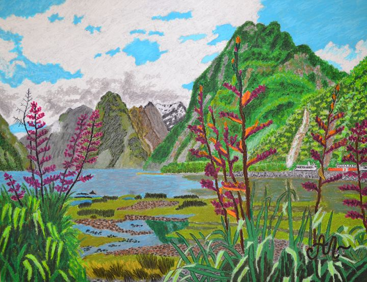 The beauty of Milford Sound, NZ - Anton's art from the heart