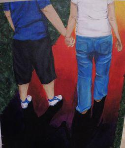 Rainbow Lane, Acrylic Painting