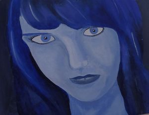 Seeing Blue, Acrylic Painting