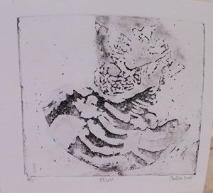 Skull: 2 of 3, Etching