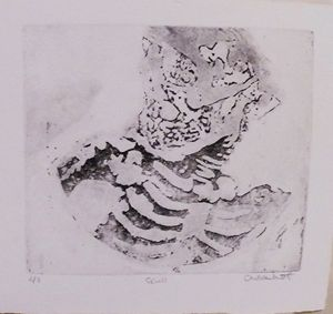 Skull: 3 of 3, Etching