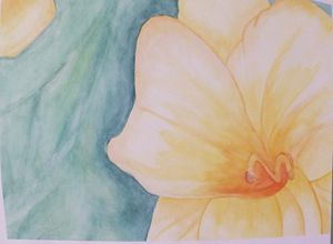 Yellow Flower, Watercolor Painting