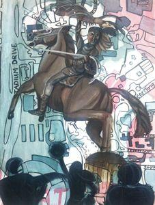 Unconquered Seminoles, Oil Painting