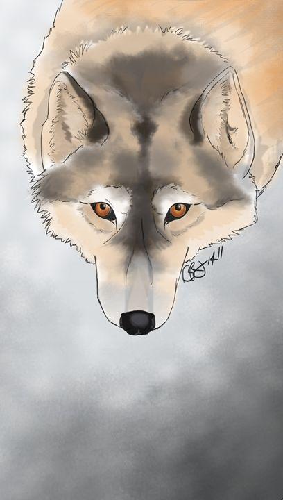 WinterWolf - Beth Rhodes Art