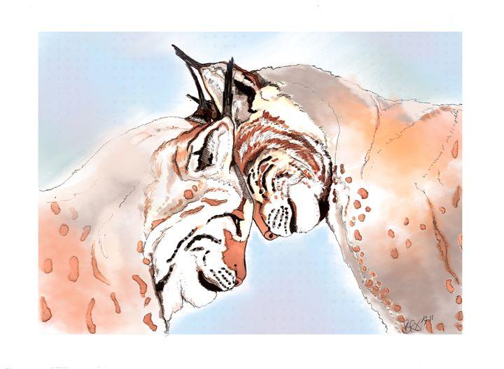 Lynx Love - Beth Rhodes Art