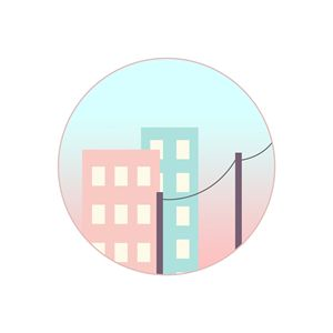 90s-Inspired Pastel City