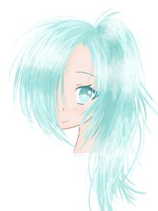Blue-Haired Anime Girl