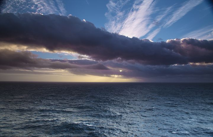 Sunset with Tunnel Clouds - HT Images
