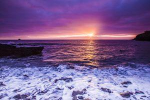 Sunrise On the Rocky Surf
