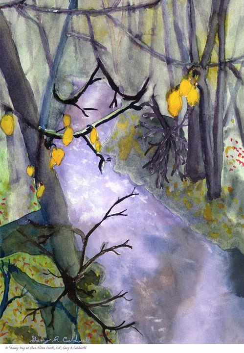Rainy Day At Glen Eleen Creek. CA - Gary R. Caldwell | CADesign, Art & Photos