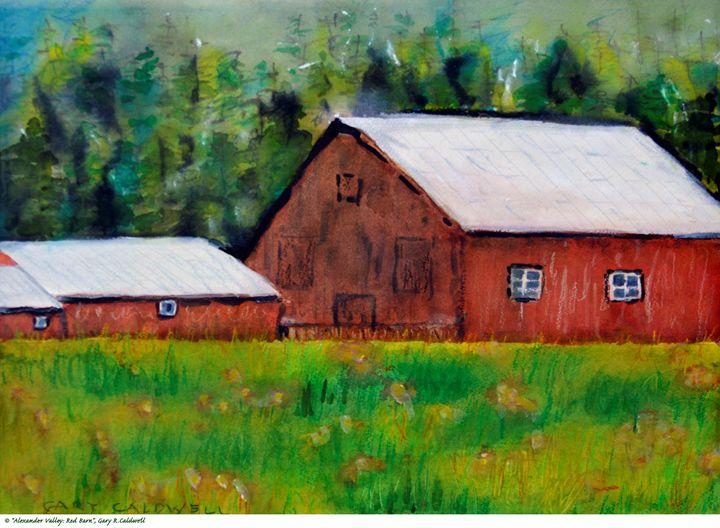 Alexander Valley—Red Barn - Gary R. Caldwell | CADesign, Art & Photos