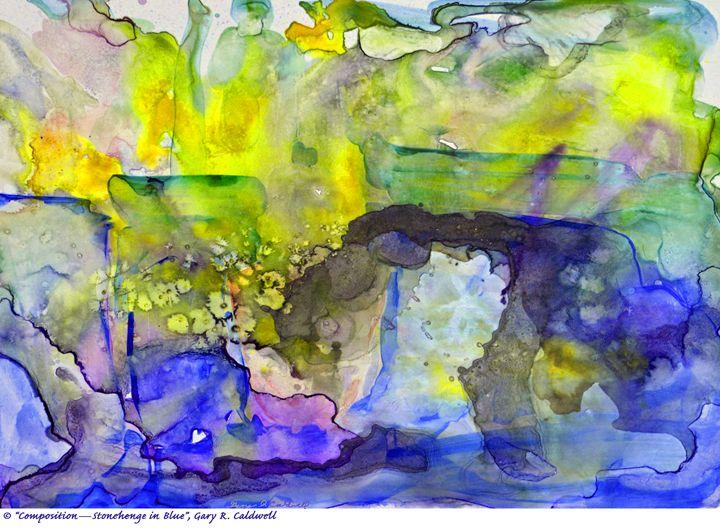 Digital-Stonehenge in Blue - Gary R. Caldwell   CADesign, Art & Photos