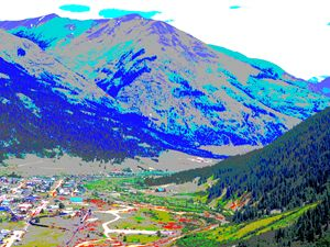 The Town of Silverton from Above - E.L. Brooke Fine Art & Design