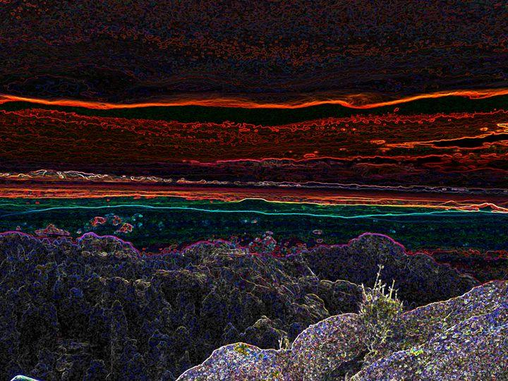 Neon Sunset - E.L. Brooke Fine Art & Design