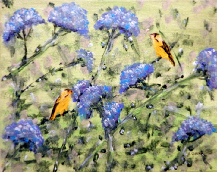Golden Finch - B Grant Art