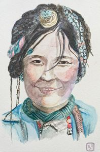 portrait of a tibetan girl
