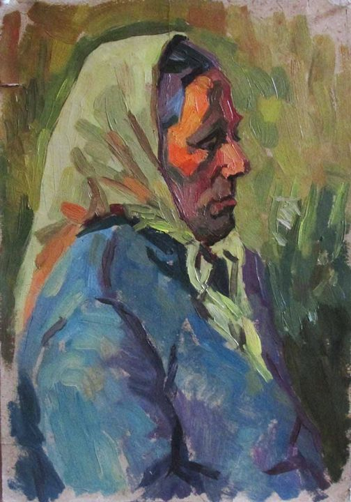 Portrait of old woman - Kateyna Bortsova
