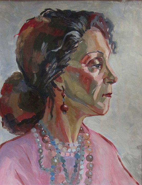 Lady with necklaces - Kateyna Bortsova