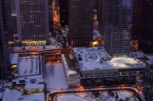 Wintry New East Side At Dusk