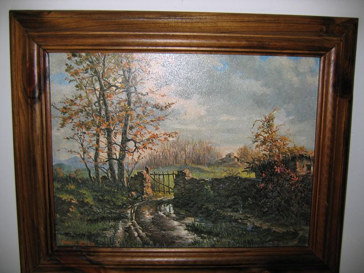 FRENCH LANSCAPE IN AUTUMN - FOURGEAUD  FRENCH