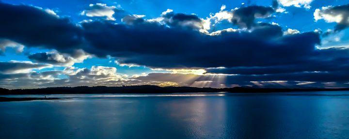 Blue Sunset - Vertical Horizontal Photography
