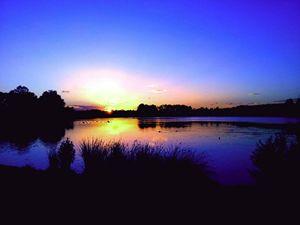 Sunset over Hardwick Park