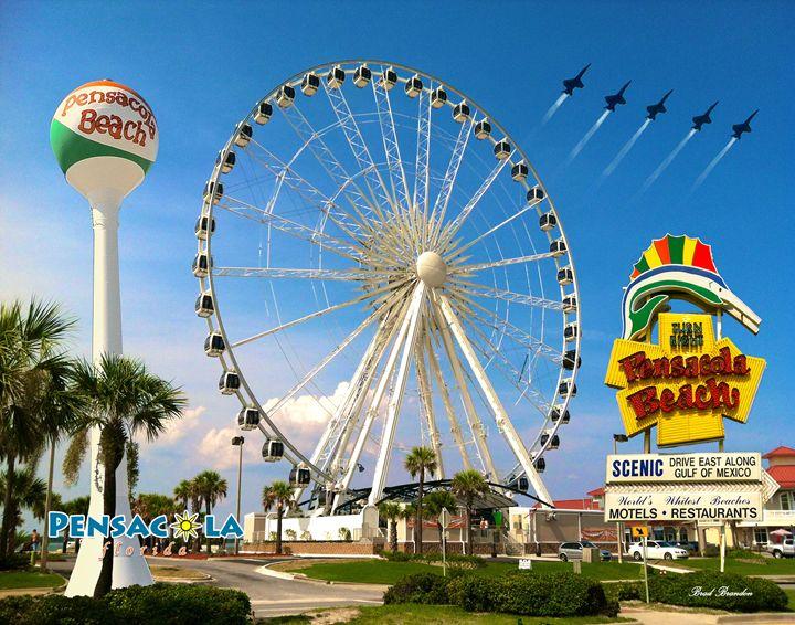 Pensacola Beach Ferris Wheel Collage - Pensacola Photography
