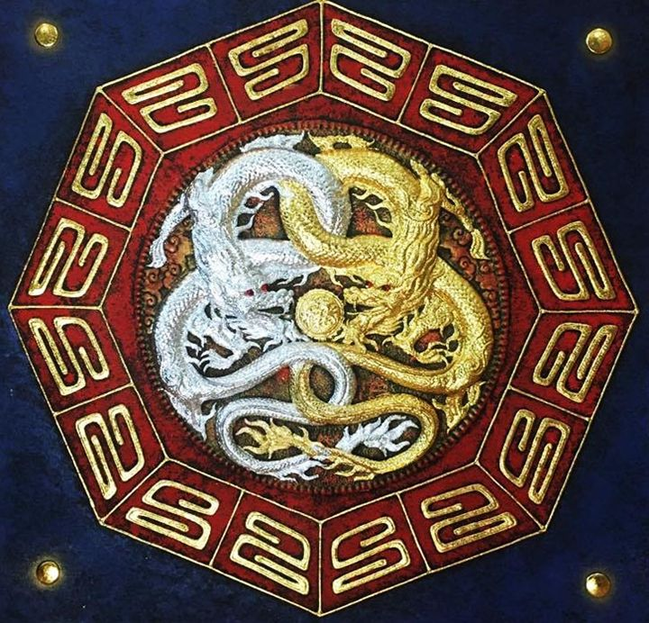Golden and Silver Dragons in Classic - Royal Thai Art