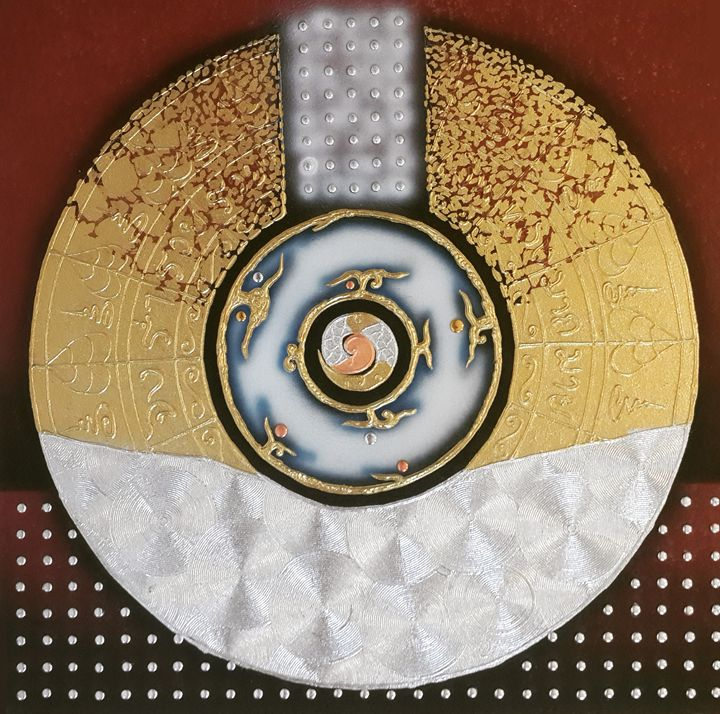 One Universe in Golden Sacred Circle - Royal Thai Art