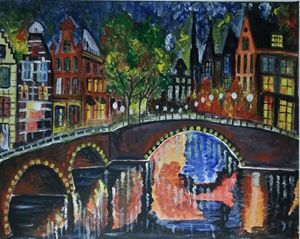 Shimmering Lights of Amsterdam