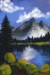 Bob Ross Inspired Landscape