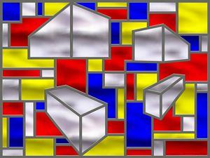 Mondrian Influenced Stained Glass 2